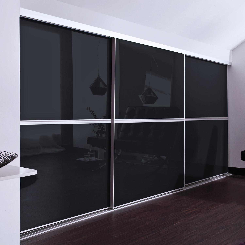 Exkluzív tolóajtó fekete üveggel 2