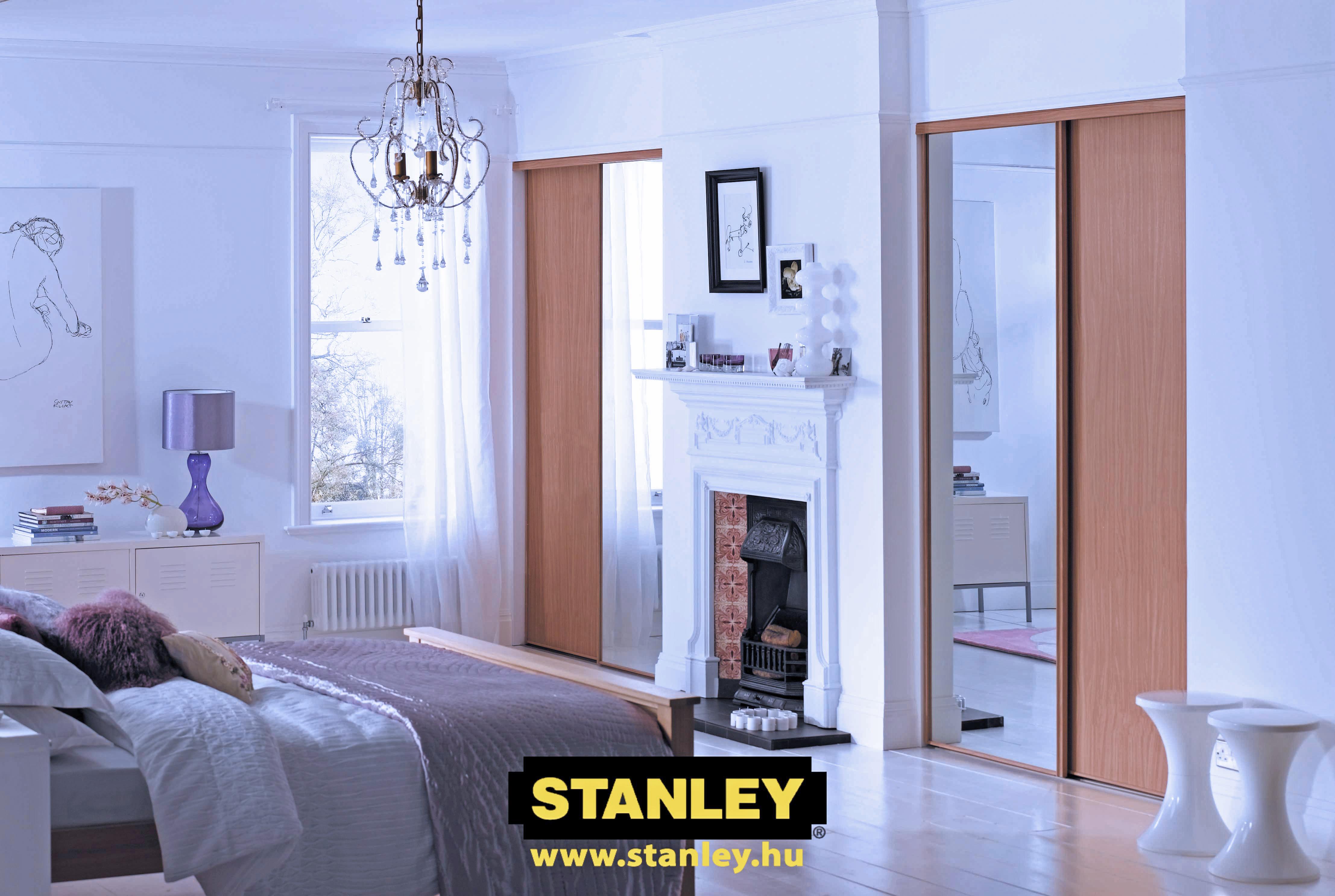 Hálószoba szekrények bútorlapos és tükrös tolóajtókkal - Stanley