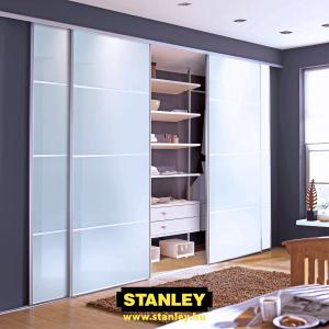 Tolóajtós szekrény, Sima fehér Stanley tolóajtó