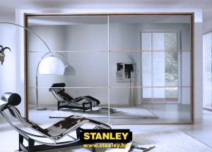 Beépített szekrény Stanley tolóajtóval, fautánzatú kerettel