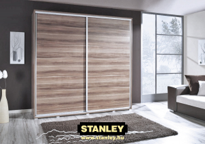 Tolóajtós szekrény fautánzatú bútorlap Stanley tolóajtóval 7