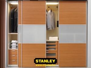 Tolóajtós szekrény belső elrendezés - Stanley 2