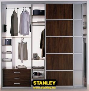 Tolóajtós szekrény belső elrendezés - Stanley 4