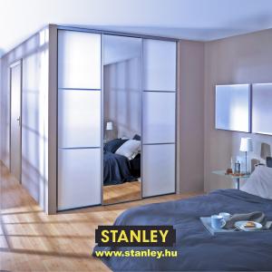 Beépített szekrény középen ezüst tükörrel -Stanley