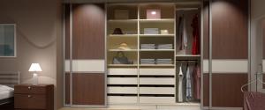 Tolóajtós szekrény belső kialakítás 4