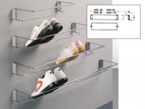 Cipőtartó, króm, teleszkópos, oldalfalra szerelhető