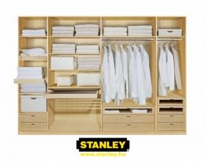 Beépített szekrény belső kialakítása - Stanley 2