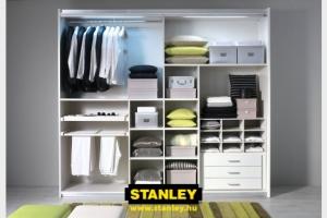 Tolóajtós szekrény belső elrendezése bútorlapos kialakítással - Stanley 3