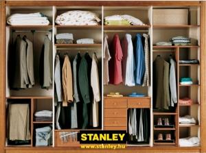 Tolóajtós szekrény belső elrendezése bútorlapos kialakítással - Stanley 6