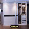 Tolóajtó, alumínium kerettel, bútorlapból - Stanley tolóajtós szekrény