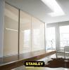 Beépített szekrény bézs üveges Minimalist tolóajtóval, egy osztással - Stanley