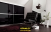 Gardróbszekrény fekete üveges Minimalist tolóajtókkal - Stanley