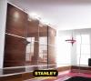 Beépített szekrény barna üveges Minimalist tolóajtóval, egy osztással - Stanley