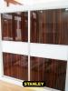 Tolóajtós szekrény fautánzatú AGT magasfényű bútorlappal 2