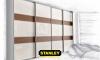 Tolóajtós szekrény fautánzatú AGT magasfényű bútorlappal 9