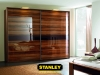 Tolóajtós szekrény fautánzatú AGT magasfényű bútorlappal
