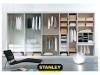 Osztott elrendezésű Stanley beépített szekrény