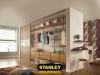 Beépített szekrény alumíniumvázas belsővel - Stanley 3