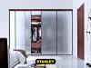 Savmart üveges tolóajtós szekrény