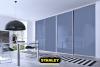 Beépített szekrény színes üveges tolóajtóval - Stanley 12