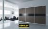 Gardrób beépítés egyszínű bútorlap tolóajtóval, alumínium kerettel - Stanley 4