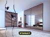 Beépített szekrény savmart mintás bronz tükör Stanley tolóajtóval