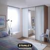 Tolóajtós szekrény telibe savmart ezüst tükörrel 2