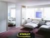 Tükörtolóajtós fehér színű Stanley beépített szekrény