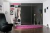 Tolóajtós szekrény fekete üveges Minimalist tolóajtókkal - Stanley