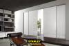 Fehér üveg tolóajtó beépítés