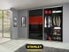 Tolóajtós szekrény belső elrendezése bútorlapos kialakítással - Stanley